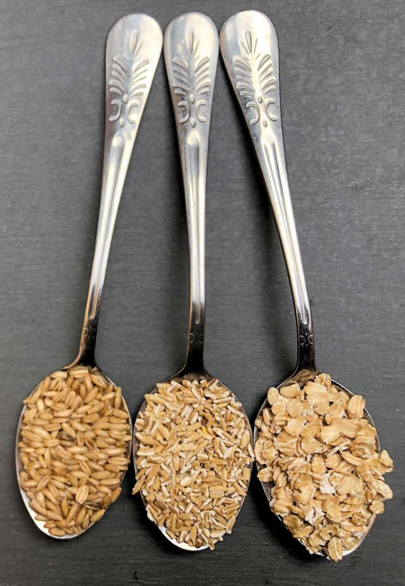 Trio of Organic Oats: Rolled Oats, Oat Groats, & Cracked