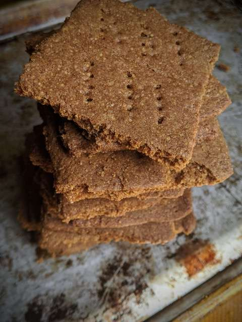 Homemade Multigrain Graham Crackers