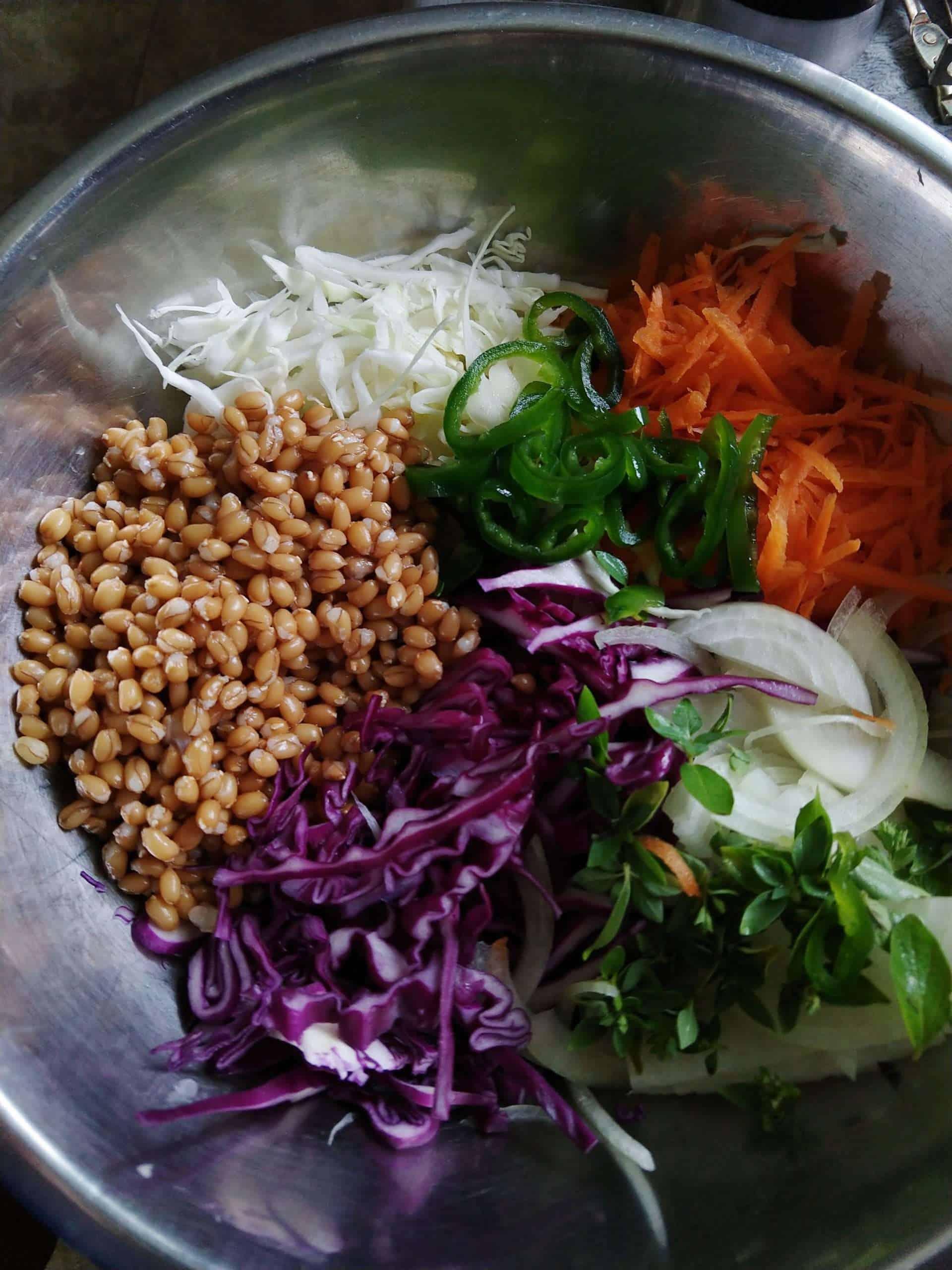 Curtido Spelt Salad