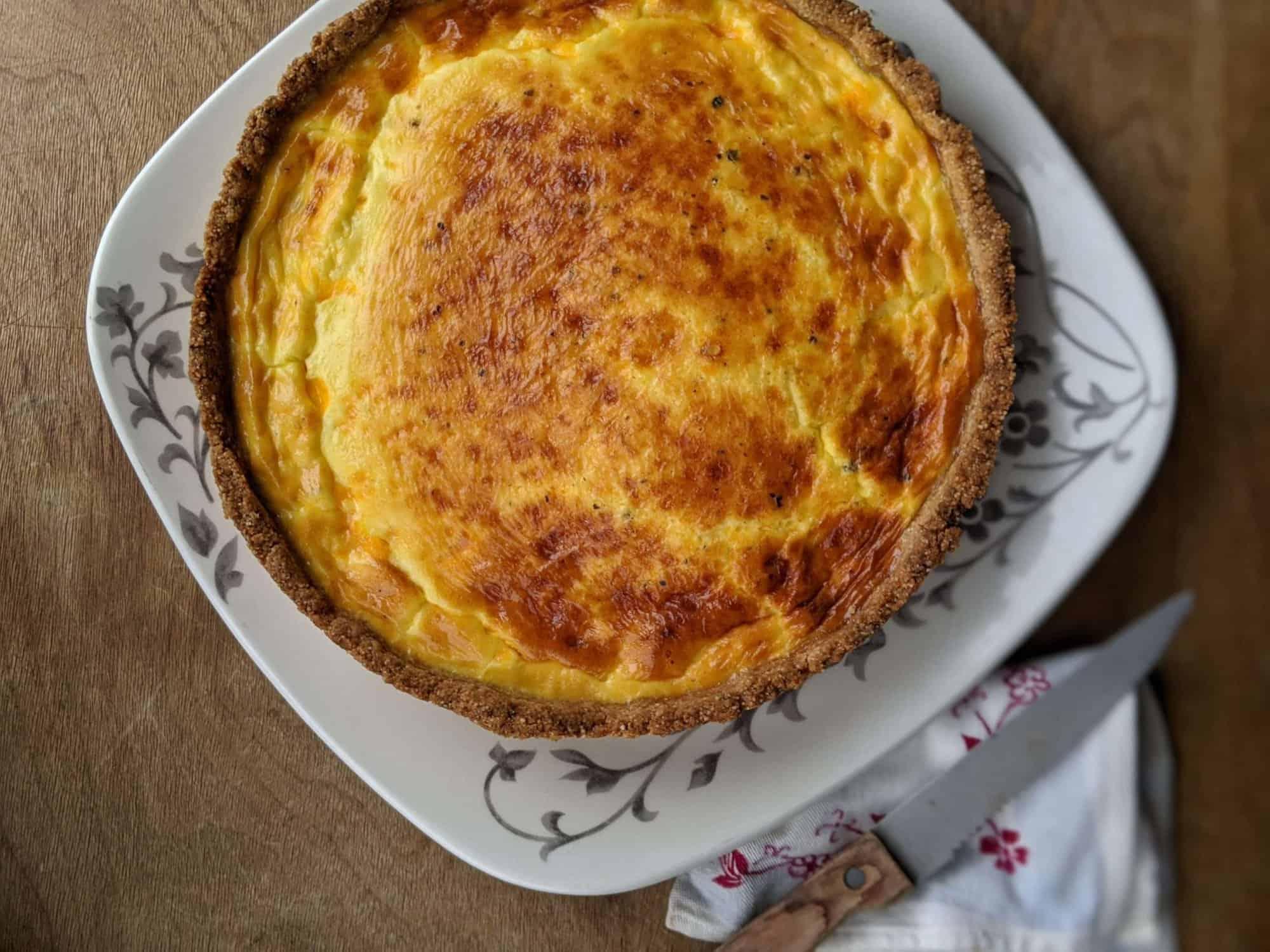Farmstyle Quiche with Sourdough Crust