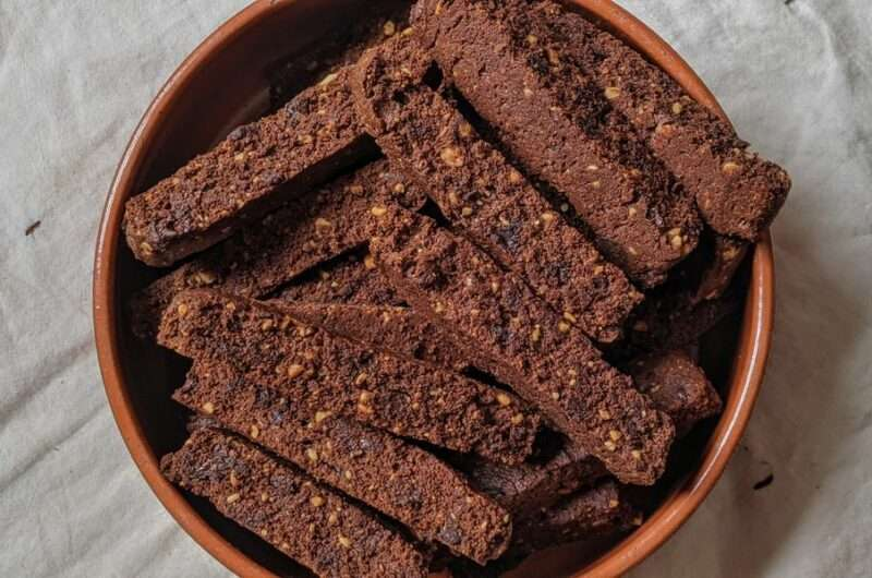Spicy Chocolate & Peanut Biscotti