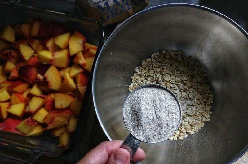 Oat & Buckwheat Peach Crisp
