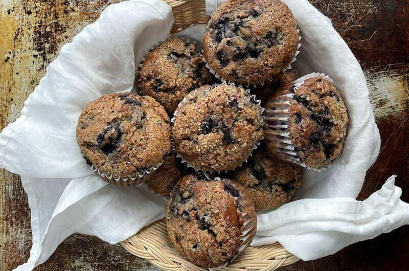 Maine Wild Blueberry Sourdough Muffins
