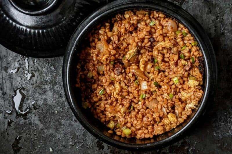 Korean Inspired Spelt Stir Fry