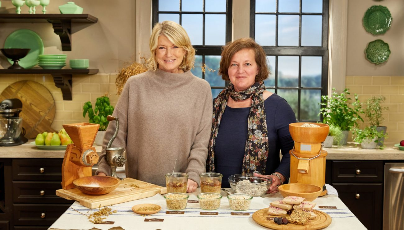 amber with martha stewart on martha bakes